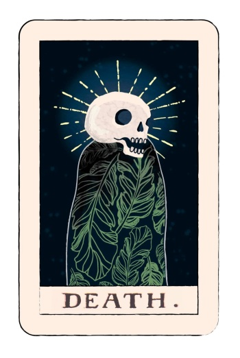 The death tarot card signals new beginnings, change, transformation, and while that change can be sudden and unexpected, it's necessary.  Illustration by Kayla Callfas
