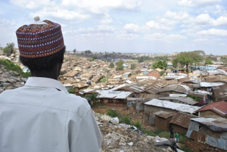 Said Abdulrahman looking out over Kibera (Photo credit: Brielle Morgan)