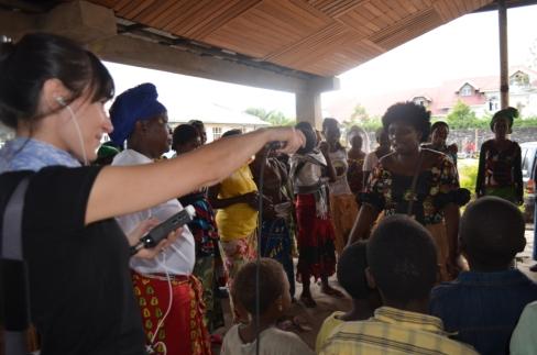 Music circle at Healing Africa.